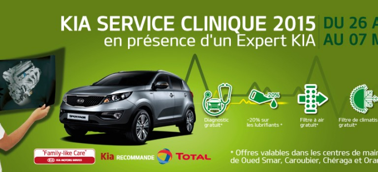 Opération « Kia Service Clinique 2015 »
