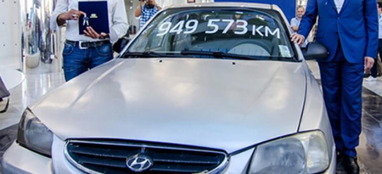 941 230 km au compteur de l'Accent depuis 2008
