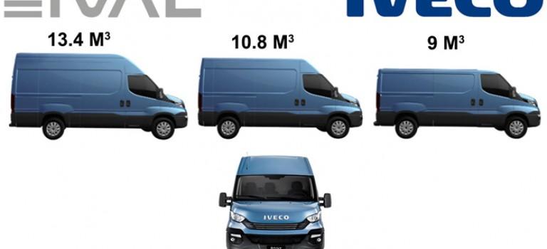 Ival annonce la disponibilité et les prix de la gamme IVECO DAILY 9M3, 11M3 et 13M3
