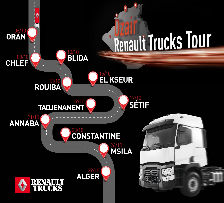 PHOTO - DZAIR RENAULT TRUCKS TOUR 2019