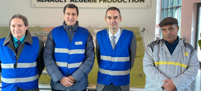 Le Député M'jid El Guerrab à la rencontre des grands groupes français et chez Renault Production