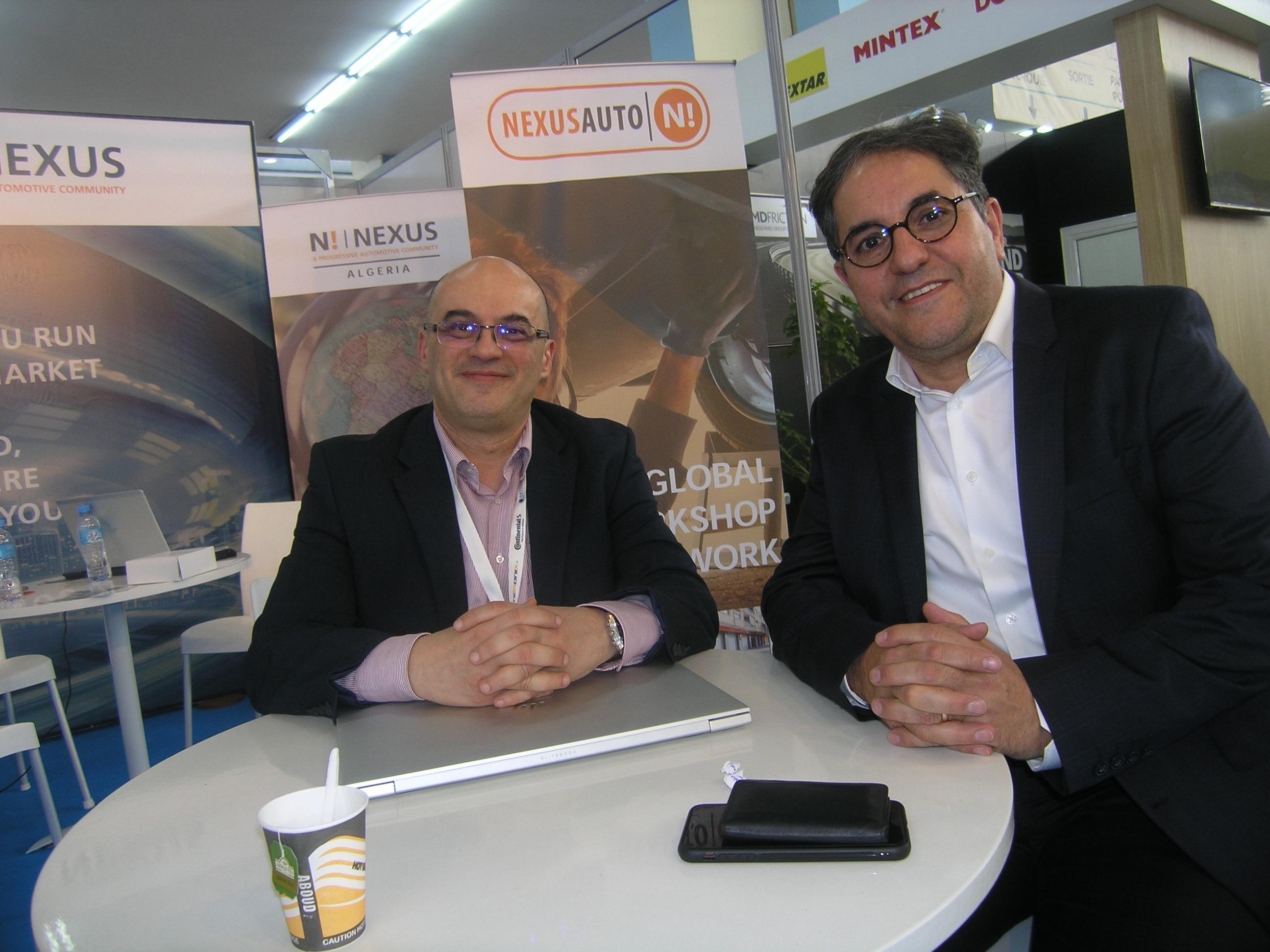 De GàD: Sami Larbes, Gérant Nexus Algérie et Abedrrezak Akroune, directeur général Turbo Center