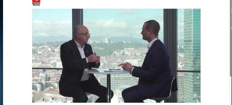 Visioconférence de Presse  de Bruno Blin : «Renault-Trucks  restera   et s'adaptera au nouveau cahier des charges du montage automobile»