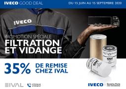 Iveco Good Deal: des rabais sur l'ensemble de la gamme pour les interventions  vidange et filtration