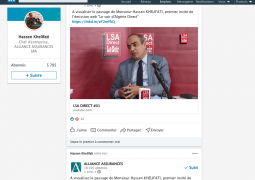 Hacen khelifati, pdg d'alliance assurance sur le plateau de LSA: la  sinistralité contre balance 50 fois le chiffre d'affaire de l'assuarance auto