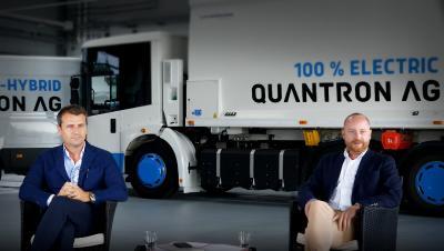 Miguel Valldecabres Polop (PDG Ev Dynamics) et Andreas Haller (PDG et fondateur Quantron AG)